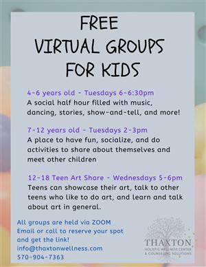 Virtual Kids Groups