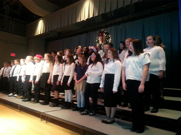 Sixth Grade Choral Group Performs