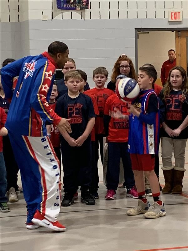 """Handles of the Harlem Globetrotters Visited our School"""