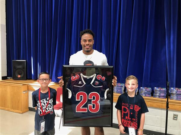 Former NFL Player, Dancing with the Stars Champion and Children's Book Author Rashad Jennings Visited East Recently