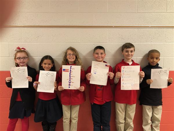 Honoring our Vets!  Students wrote poems and essays which will be on display at RHS this Monday for the 2nd Annual Vets' Day Appreciation Breakfast.