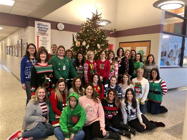 """Ugly Sweater Day for Staff Members"""
