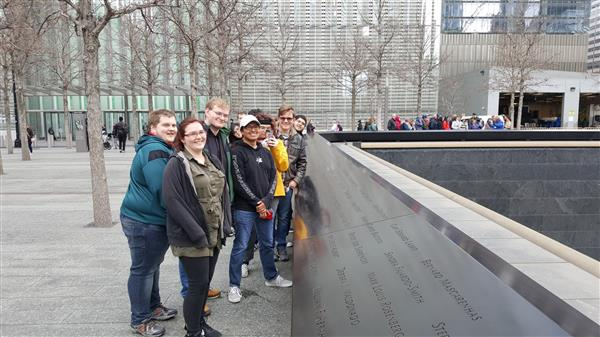 Art Club visits 911 Memorial in NYC