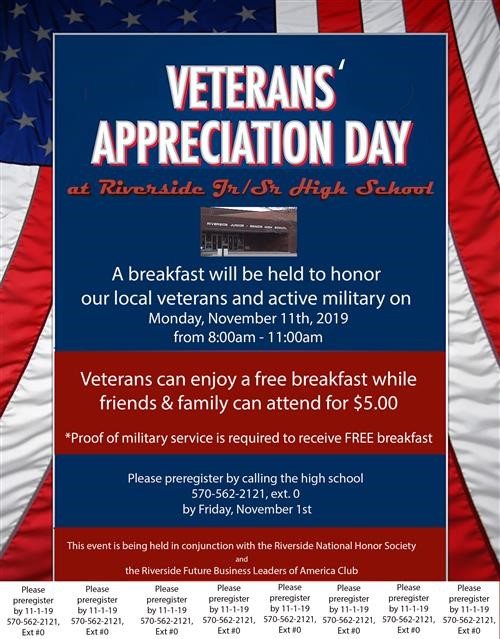 Veteran's Day Appreciation