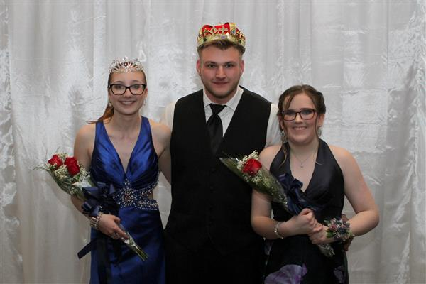 Riverside High School Prom Queen, Prom King, Prom Princess   Pictured left to right Prom Queen, Olivia Maikranz, senior Prom King, Devon Coombs, senior Prom Princess, Jessica Fernbaugh, junior
