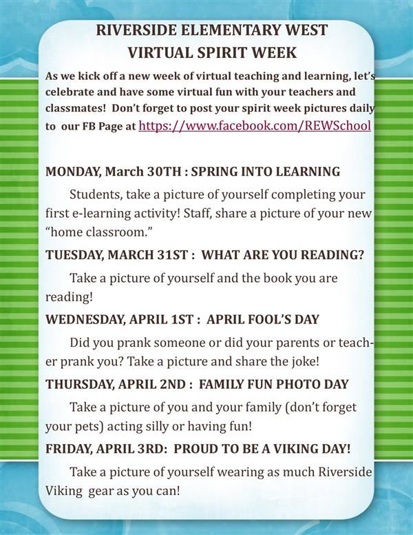 Virtual Spirit Week: REW