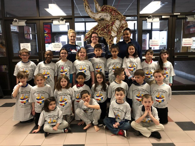 Students celebrate Autism Awareness Week! Thank you Mrs. DeNinno and Mrs. Walsh!