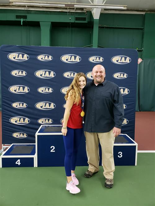 Karissa with Coach Thomas